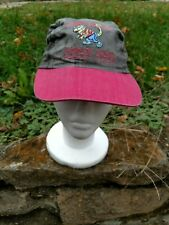 Jimmy Buffet Hat Vintage 93 Tour Chameleon Caravan Gray Red Adjustable Buckle US