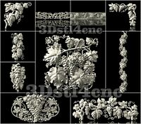 10 3D STL Models Grapes New Decor for CNC Router Carving Machine Artcam aspire