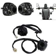 Pair Motorcycle 25mm Handlebar Control Horn Turn Signal Light Switch For Harley