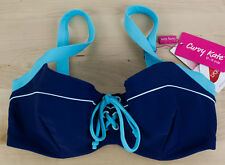 New Curvy Kate Set Sail Halterneck Bikini Top Only CS4021 Indigo Mix Blue