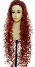 Super Long Spiral Curl Curly Wig Perfect for Merida in Brave Red Head Hula Dance