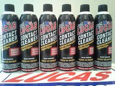 LUCAS CONTACT CLEANER # 10799  (6) X 14 OZ. SPRAY CANS (MADE IN USA)