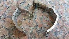 20mm Straight End OYSTER Solid Stainless Steel Watch bracelet,Screws Links 4 Men