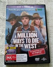 A MILLION WAYS TO DIE IN THE WEST- DVD, R:2+4+5, LIKE NEW, FREE POST AUS-WIDE