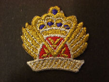 METALLIC CROWN EMBROIDERY APPLIQUE PATCH EMBLEM LOT (6 DOZEN)