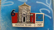 COUNTDOWN 6 MONTHS TO GO (ENGLISH) WINDS MONUMENT - ATHENS 2004 OLYMPIC PIN