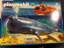 Playmobil - 4489 Researcher on Boat and Whale.   Almost Complete Very Rare Set