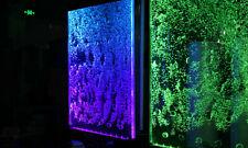 Wandpaneel mit Wasserblasen LED Wasserwand Designer Wasser Wand Beleuchtete