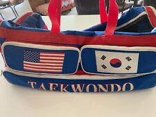 "Ata Taekwondo Karate Full Size 30"" Sparring Gear Duffle Bag Red White Blue"