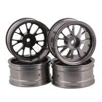 4pcs Titanium Color 12mm Hex Wheel Rims Y-Shape for RC1:10 On Road Car&Drift Car