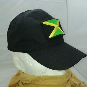 Jamaica Flag (hook and loop) badge on Black Baseball Cap - Tactical Operator Cap