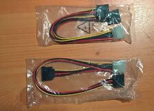 Adaptateur MOLEX male vers 2x SATA type Y longueur 2x 20cm