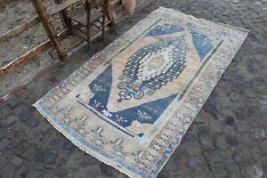 """Vintage Handmade Turkish Oushak Nursery Area Rug Carpet 8'8""""x5'2"""""""