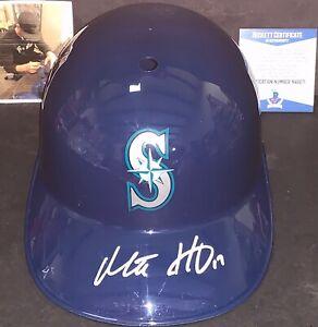 Mitch Haniger Seattle Mariners Signed Full Size Souvenir Helmet Beckett WITNESS