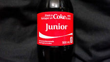 SHARE A COKE WITH JUNIOR COCA COLA EXCLUSIVE CANADIAN ONLY NAME