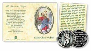 St Christopher Token & Leaflet Set Motorist Prayer Religious Sentiment Gift