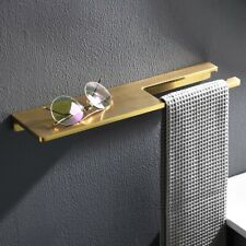 Bathroom Brass Shelf,Shower Storage Organizer with Towel Bar Rack Brushed Gold