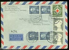 Germany Frankfurt 5/15/53 Cover To Chicago As Shown