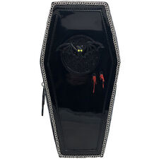 Betsey Johnson Can't Stop Coffin Backpack Bag in Black-