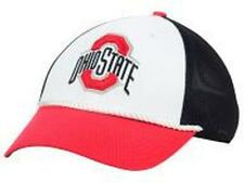 OHIO STATE BUCKEYES Nike White Black Red NCAA Swooshflex Flex fit Cap Hat S/M
