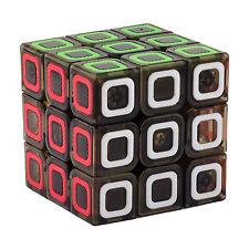 Rubiks Cube Speed Magic Twist Transparent 3x3 Stickerless Brain Toys Black 57mm