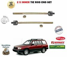 FOR SUBARU FORSTER 1997-2002 NEW 2x INNER STEERING TRACK RACK TIE ROD END