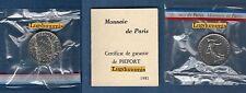 Piéfort - 1 Franc Semeuse 1981 - RARE  FDC Cote 120 Euro PIEFORT