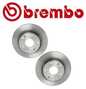 Brembo Pair Set of 2 Rear Brake Disc Rotors UV Coated For Honda Accord Acura TSX