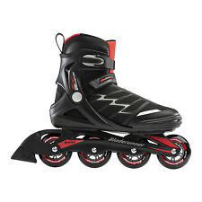 Rollerblade Pro XT Adult Men's Inline Skates Size 8, Black and Red (Open Box)
