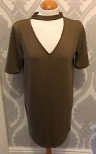 RIVER ISLAND KARKI GREEN DRESS/TOP BRAND NEW LABELS ATTACHED SIZE 8