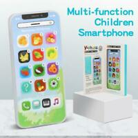 Kids Toy Phone Educational Learning Rechargeable Black Mobile Phone