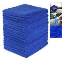 10x Large Blue Microfibre Cleaning Auto Car Detailing Soft Cloths Wash Towel UK