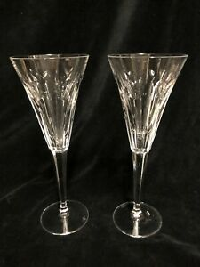 Pair of Waterford Toasting Flutes Love  with hearts