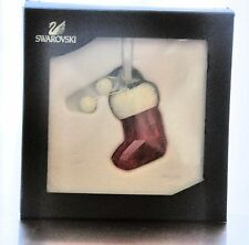 Swarovski Stocking Christmas Tree Ornament #1096029 New in Box Retired