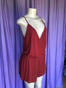 FOREVER 21 Brick Red Casual Romper & Embroidered Tank Size M/L