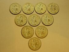 More details for ten antique victorian gaming chips coins tokens george iii guinea dated 1797