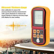 GM100 LCD Digital Ultrasonic Thickness Gauge Tester For Steel Width 1.2-220mm