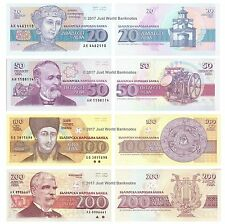 Bulgaria 20 + 50 + 100 + 200 Leva Set of 4 Banknotes 4 PCS UNC