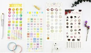 Bullet Journal Diary Calendar Numbers Days Weeks Decorative Stickers