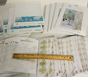 NEW Wedding Supplies Lot Stickers Gold Silver Decor Lace Sheets Kiss Seal favors