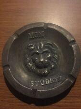 Metro Goldwyn Meyer MGM Studios Solid metal ash tray Lion face Antique Style f/g