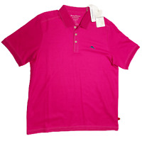 Tommy Bahama Men's Island Zone Supima Cotton Polo, Size 2XL Pink New With Tags