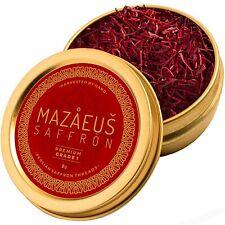 Mazaeus Saffron, Premium Saffron Threads (Grade 1), All-Red Saffron Spice, Highe