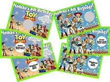TOY STORY PERSONLIZED SCRATCH OFF OFFS PARTY GAME GAMES CARDS BIRTHDAY FAVORS