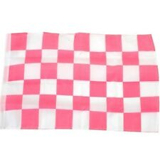 Small 12 Inch X 20 Inch Replacement Pink And White Checkered Flag For Whip Anten