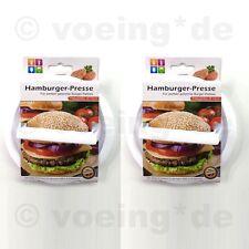 2x Kunststoff Pattypresse Hamburgerpresse Burgerpresse Hamburger-Presse Maker