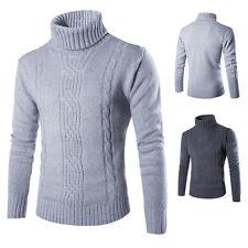 Winter Men's Turtleneck Wool Sweater Thick Knitted Cardigan Woollen Sweater Tops
