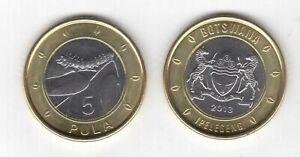 BOTSWANA – BIMETAL 5 PULA UNC COIN 2013 YEAR CATERPILLAR