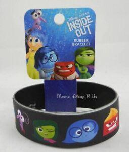 "New Disney Pixar Movie Inside Out Heads 1"" Rubber Bracelet Wristband Joy Fear"
