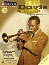 Miles Davis Standards Jazz Play Along Book and CD NEW 000843045